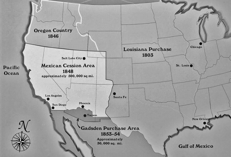 Map of Gadsden Purchase. Photo: The Arizona Historical Society.